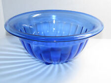 "Vintage Hazel Atlas Cobalt Blue Mixing Bowl 9 1/2"" Wide - 4"" tall"