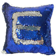 Cushion Mermaid Cover Pillow Sequin Case Reversible Glitter Sofa Double Decor