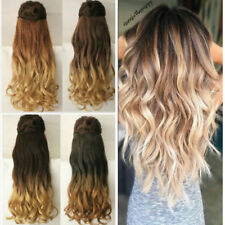 100% Natural Clip In Human Hair Extension One Piece 3/4Full Head Piece Synthetic