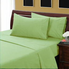 AU Bedding Collection All Size 100% Egyptian Cotton 1000 TC Sage  Solid