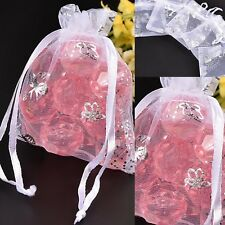 """Silver Butterfly Organza Gift Bags Jewelry Wedding Favors Drawstring 2X3"""" 90x70m"""