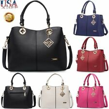 Lady PU Leather Handbag Shoulder Bag Messenger Bag Satchel Zipper Tote Purse Hot