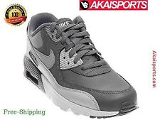 NIKE Kid's Air Max 90 Leather Running Shoes Original Cool Grey/Wolf Grey Atletic