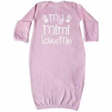 Inktastic My Mimi Loves Me Grandkids Baby Layette Sleeper Grandson Granddaughter