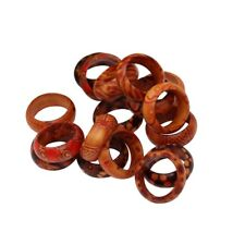 50pcs Wholesale Jewellery lots Wood Wooden Mixed Color Natural Rings