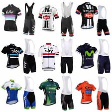 Cycling Jersey Bib Shorts Set Team Sky Sports Riding Gear Youth Clothing