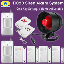 110dB Wireless Loudly Siren Alarm System Security for Home House Alarm Security