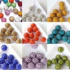 20Pcs Czech Crystal Rhinestone Pave Clay Loose Beads Disco Ball Finding DIY 10MM
