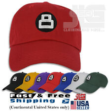 8 Ball Hat Dad Embroidered Cap Polo Style Baseball Cotton Curved Bill NEW