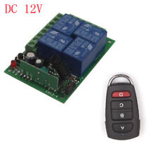 12V/24V 4CH Relay Wireless Switch Remote Control Transmitter Receiver ON/OFF Kit