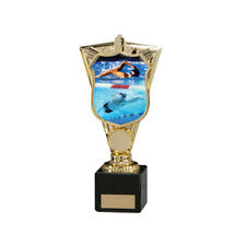 Swimming Trophy Award in 5 Sizes, Free Engraving up to 30 Letters