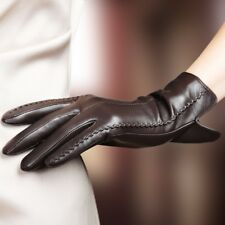 Leather Gloves Autumn And Winter High Quality Elegant Women Genuine Lamb Skin