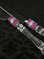 Cake Knife and Server Set with Rhinestones Design All Occasions Wedding Sweet 16