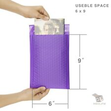 Purple Poly Bubble Padded Envelopes Self-Sealing Mailers 6X10 (Inner 6x9)