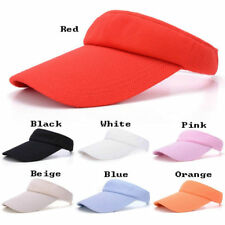 Plain Visor Sun Cap Sport Hat Adjustable Tennis Beach Men Women 5 Colors