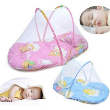 ES_ Foldable Portable Infant Baby Mosquito Net Crib Bed Tent with Pillow Mystic