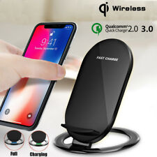 Qi Wireless Fast Charging LED Charger Stand Dock Mat Holder Pad For Samsung S8