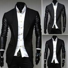 Stylish Men's Casual Slim Fit Trench Coat Single Breasted Coat Jacket Overcoat