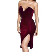 Women Sexy Bodycon Party Dress Hot Fashion Clubwear Evening Side Slit Dress