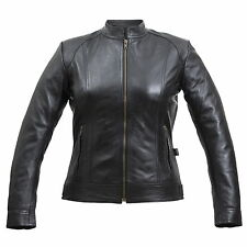 Ladies Lamb Nappa Leather Jacket Motorcycle Jacket Waisted Cut Ladies Jacket NEW