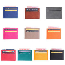 Colorful Leather Bank Card Holder Wallet Slim Credit Card ID Cover Case Bag