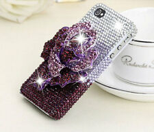 Bling Luxury 3D Rose Rhinestones Crystals Hard Cover For Various Mobile Phones