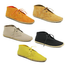 WOMENS LADIES LACE UP LOW ANKLE BOOTS BOOTIES ESPADRILLES LOAFERS SHOES SIZE 3-8