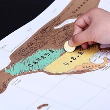 Deluxe Travel Scratch Off World Map Poster Personalized Journal Log Gift New GN