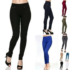 US Stock Women New Stretch Twill Skinny Pants Trousers Pocket Formal Casual