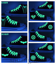 MV DC Luminous Shoes Batman Iron Man Superman Canvas Casual Shoes Unisex