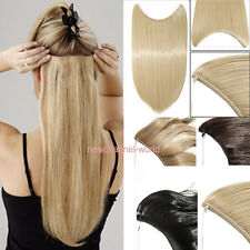 US New Straight One Piece Secret Wire Hair Piece Hair Extensions As Human Hair