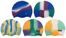 CHEX 100% Silicone Abstract 8+ Years Junior Senior Strong Swimming Cap Swim Hat