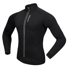 Cycling Jersey Long Sleeve Bicycle Jacket Sportswear Reflective Strip Black