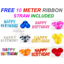 "16"" inch Self Inflating Happy Birthday Foil Balloons Banner Baloon Uk Seller"