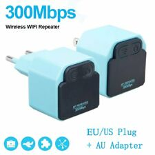 300Mbps WiFi Repeater Wireless Signal Range Extender Booster Amplifier LOT BU