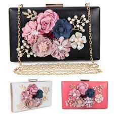 Lady Evening Fashion Clutch Bag Flower Bridal Wedding Handbag Wallet Party Purse