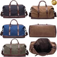 Unisex Travel Sport Shoulder Weekend Bag Canvas Duffel Gym Large Luggage Tote US