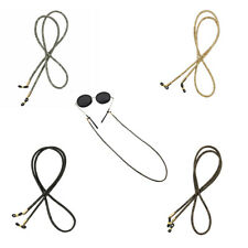 Leather Stripe Eyeglasses Chain Holder Retainer Spectacles Rope Neck Cord
