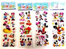 5 10 or 50 x Childrens 3D MICKEY MINNIE MOUSE  Reward Sticker Sheets Party Bag