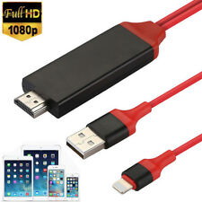 1080P 6FT 8 Pin Lightning to HDMI HDTV AV Cable Adapter For iPad Mini 4 3 2 Air