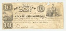 Republic of Texas-issued $10 bill with Mirabeau Lamar's signature