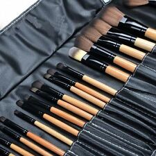Pro 24 Pcs Makeup Brush Cosmetic Tool Kit Eyeshadow Powder Brush Set + Case DQ