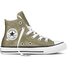 Converse Chuck Taylor All Star Glitter Hi Gold Synthetic Youth Trainers Shoes