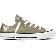 Converse Chuck Taylor All Star Glitter Ox Gold Synthetic Youth Trainers Shoes