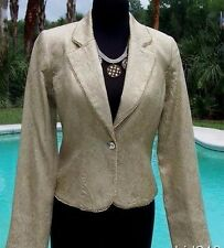 Cache Elaborate Gold Brocade Top Jacket New Silver Gold Bead Trim XS/S/M/L $228