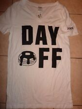 "VICTORIAS SECRET PINK PANCAKES ""DAY OFF"" VNECK TEESHIRT NWT"