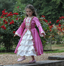 Girls Childs Marie Antoinette Pink Princess Party History Fancy Dress Costume
