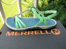 MERRELL Womens Strappy Sandals Black / Green size 8 NEW