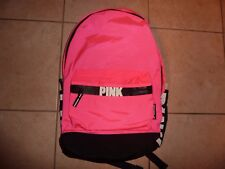 VICTORIAS SECRET PINK NEW CAMPUS PINK LARGE BACKPACK ZIP BOOK LAPTOP NWT