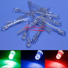 10-1000PCS 5mm/10mm 4pin RGB Tri-Color Common Anode/Cathode Diffused/Clear LED